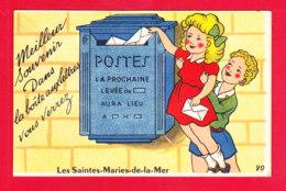 F-13-Saintes Maries De La Mer-13A88 Carte à Système, 10 Petites Vues Dans Une Boîte Aux Lettres - Saintes Maries De La Mer