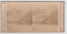 Stereoscopische Kaart.   Les Praz Et Le Glacier Des Bois - Cartes Stéréoscopiques