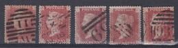 GRANDE BRETAGNE 1858-64:  Petit Lot Du 1p. Rouge Carminé,  Oblitérés - 1840-1901 (Viktoria)