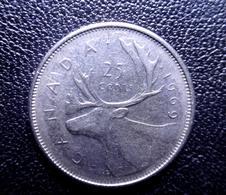 Canada, Elizabeth II, 25 Cents, 1969, Royal Canadian  Nickel CIRCULATED - Canada