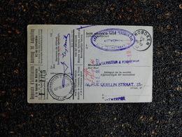 Demande D'affiliation à La Caisse De Retraite, 1932, Hoboken   (H7) - Vieux Papiers