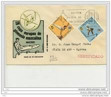 """Pli Certifié FDC Espagne / Espana """" Coupe Europe Gymnastique 1971 - TB - Gymnastique"""