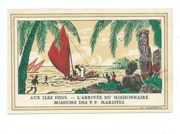 OCÉANIE ILES FIDJI Missionnaire Propagation De La Foi TB 14 X 9 Cm  2 Scans Missions étrangères De Paris - Fidji