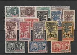 1906 - PALMIERS Haut Sénégal Et Niger  SERIE COMPLETE YVERT  N° 1 A 17 Charniére* Cote 356 - 1906-08 Palmiers – Faidherbe – Ballay