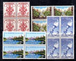 QUS AUSTRALIA 1959 , Serie Yvert N. 231/234  In Fresche Quartine ***  (2380A) . Olimpiadi Di Melbourne - Nuovi