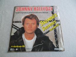 VINYLE 45 T JOHNNY HALLYDAY SOUVENIRS SOUVENIRS VERSION 82 PHILIPS 811 400 7 - Rock