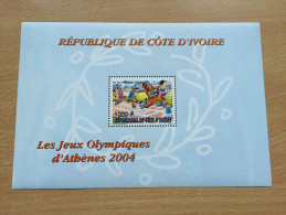 Côte D'Ivoire Ivory Coast 2004 Block Bloc Mi. Bl. A36 A1319 Jeux Olympiques Olympic Games Olympia Athènes Athens Athen - Côte D'Ivoire (1960-...)