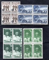 QUS - TAAF ANTARTICO AUSTRALIAN 1959 , Serie Yvert N. 2/5  In Fresche Quartine ***  (2380A) . - Territorio Antartico Australiano (AAT)