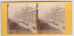 Stereoscopische Kaart.   OPENING. Of The International Exhibition Of 1862. - Cartes Stéréoscopiques
