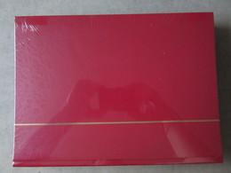Nex004 NIEUW A4 LEUCHTTURM ALBUM KLEUR ROOD / RED MET 64 ZWARTE BLADEN - Albums & Bindwerk
