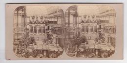 Stereoscopische Kaart. The Chystal Palace Art Union Of 1859.    Les Grandes Statues De Memnon D'Egypte - Cartes Stéréoscopiques