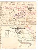 SJ39/ 2 CP Jette PDG - POW C.Brüssel 1917 Geprüft V.Göttingen Censure Du Camp - WW I