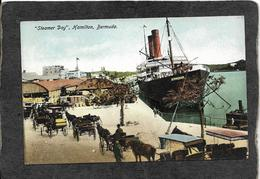 "Hamilton,Bermuda-Steamer ""Bermudiana"" At Steamer Day 1910s - Antique Postcard - Bermuda"