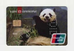 Bank Primorje Vladivostok  RUSSIA Panda Union Pay VOID - Geldkarten (Ablauf Min. 10 Jahre)