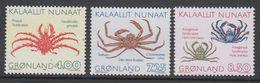 Greenland 1993 Crabs 3v ** Mnh (42233) - Groenland