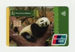 Russian Agricultural Bank RUSSIA Panda Union Pay VOID - Cartes De Crédit (expiration Min. 10 Ans)