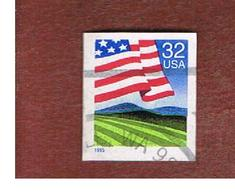 STATI UNITI (U.S.A.) - SG 3007  - 1995 FLAG OVER FIELD (IMPERFORATED) - USED - Used Stamps