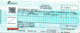 Biglietto  Treno  UTILIZZATO   -   Roma Termini / Fiumicino Aeroporto  -   Del  18. 11. 2018 - Europe