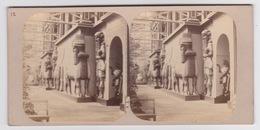 Stereoscopische Kaart. The Chystal Palace Art Union Of 1859.   Jardin Des Indes.  Entrée Du Palais D'afsyrie - Cartes Stéréoscopiques