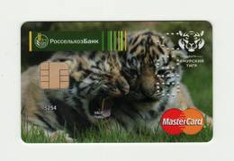 Russian Agricultural Bank RUSSIA Tigers MASTERCARD VOID - Cartes De Crédit (expiration Min. 10 Ans)