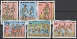 Burkina Faso 2000 Mi. 1773 - 1789 Troupe De Danse Tanzgruppen Culture Bobo 98 Mandela Art Kunst Dancing Tanz 6 Val. ** - Musique