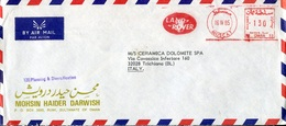 43937 Oman, Red Meter Freistempel Ema, 1985 Muscat, Land-rover , Circuled Cover To Italy - Oman