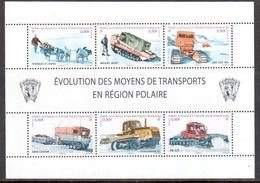 TAAF - 2010 - BF Evolution Des Moyens De Transports En Région Polaire ** - Blocs-feuillets