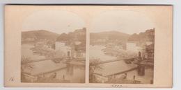 Stereoscopische Kaart.    LYON. Pont Et Port  De Lyon - Cartes Stéréoscopiques