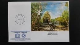 CAMBODIA/ FDC S/S  1th Ann. Of The Inscription Of The Temple Of Sambor Preikuk On The World Heritage List 2018. - Cambodge