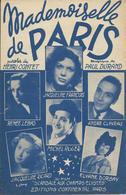Partition De André CLAVEAU, Renée LEBAS, Jacqueline FRANCOIS   - Mademoiselle De Paris - Musique : PAUL DURAND - Musik & Instrumente