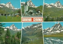 Cervinia Breuil (Aosta) Chiesa E Scorci Panoramici, Eglise Et Vues, Church And Views - Aosta