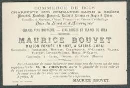 JURA SALINS Carte Visite Publicitaire Commerce Bois Maurice Bouvet - Visiting Cards