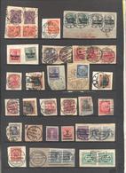 Deutsches Reich - Lotto - Accumulo - Vrac - 72 Francobolli - Usati, Alcuni Su Frammento O Sovrastampati X Occupazioni - Mezclas (max 999 Sellos)
