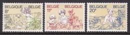 SERIE NEUVE DE BELGIQUE - FETE DES MERES (FEMMES DANS LA VIE ACTIVE) N° Y&T 2086 A 2088 - Muttertag