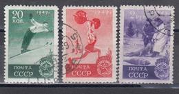 USSR 1949 - Sport, Mi-Nr. 1409; 1412; 1413, Used - 1923-1991 UdSSR