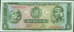 PERU - 5 Soles De Oro 15.08.1974 UNC P.99 C - Peru