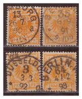 DR:  4x Nr. 49a, Gestempelt - Allemagne