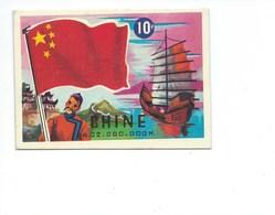 CHINE CHINA Sampan Drapeau Flag 95 X 67 Mm Jeu Des Drapeaux TB Cartonnées - Autres