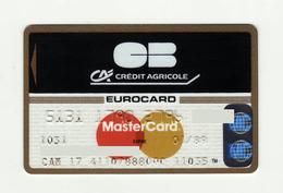 Credit Agricole FRANCE Carte Bleue MASTERCARD Expired 1989 - Geldkarten (Ablauf Min. 10 Jahre)