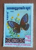 """Papillon """"Euploea Althaea Juvia"""" (Insecte) - Kampuchea - 1983 - Kampuchea"""