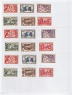 Serie Exposition Coloniale 1937 Les 126 Valeurs Luxe Sans Charniére ** Cote 422 - 1937 Exposition Internationale De Paris