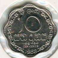 Sri Lanka 10 Cents 1988 KM 140a - Sri Lanka