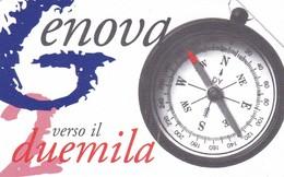 SCHEDA TELEFONICA  GENOVA VERSO IL 2000  SCADENZA 30/06/1999 USATA - Italy