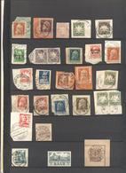 Antichi Stati Tedeschi - Lotto - Accumulo - Vrac - 55 Francobolli - Usati Su Frammento E Alcuni Sovrastampati - Francobolli