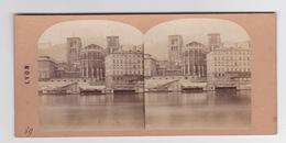 Stereoscopische Kaart.    LYON.   Abside De La Cathédrale Et N.D.de Fourvière - Cartes Stéréoscopiques