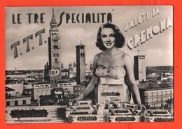 Cremona Le 3 Specialità : Torrone Torri Te...tte Cpa 1952 - Cremona