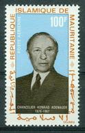 BM Mauretanien 1968   MiNr 333   MNH   1. Todestag Von Konrad Adenauer, Flugpostmarke - Mauritanie (1960-...)