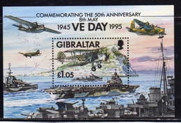 GIBRALTAR GIBILTERRA 1995 VE DAY 50th ANNIVERSARY BLOCK SHEET BLOCCO FOGLIETTO BLOC MNH - Gibilterra