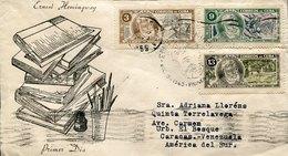 43909 Cuba, Circuled Cover 1963  Set Stamp Ernst Hemingway, Nobel Priz,  Prix Nobel - Premio Nobel