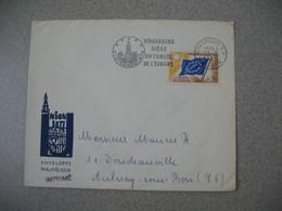 Enveloppe 1965 Strasbourg Siège Du Conseil De L'Europe - Lettre De Strasbourg RP Bas -Rhin Pour Aulnay Sous Bois - Marcofilia (sobres)